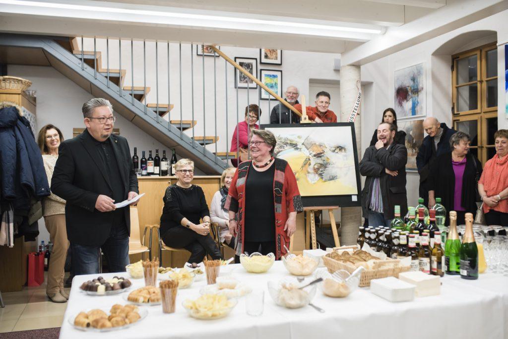 Vernissage 1. Trauner Künstlergruppe Sylvia Kneidinger Acrylmalerei