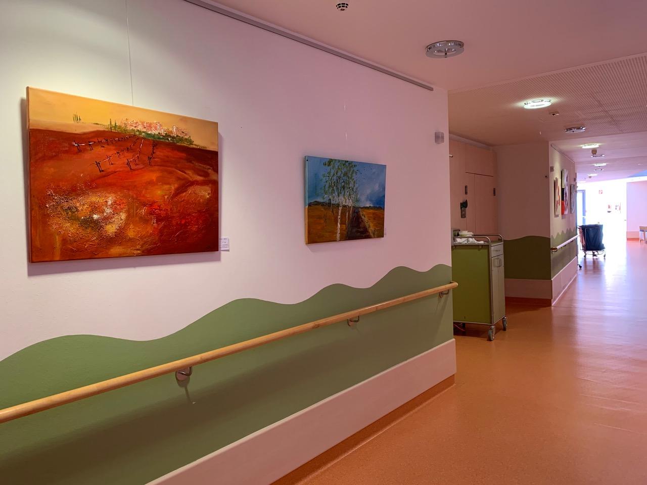 Bezirksseniorenheim Walding_Acrylbilder_Syliva-Kneidinger