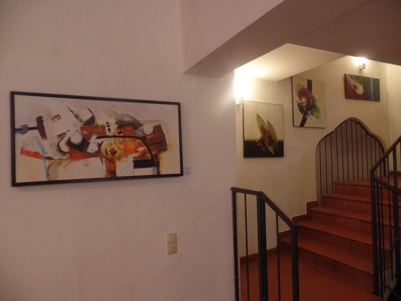 Schloß Lamberg Ausstellung Sylvia Kneidinger Acrylbilder