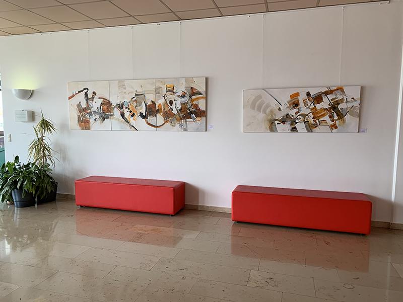 Sylvia-Kneidinger_Acrylbilder-Ausstellung_Stadtamt-Traun