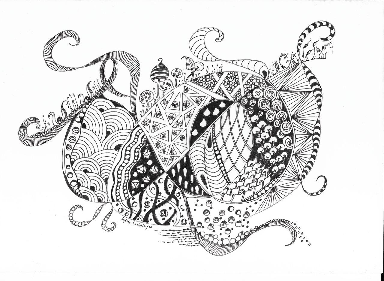 Zentangle-Zeichnung_Sylvia-Kneidinger